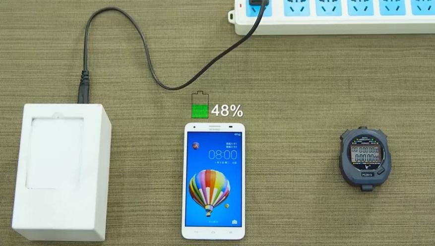 Carga la mitad de la batería de tu smartphone en solo 5 minutos