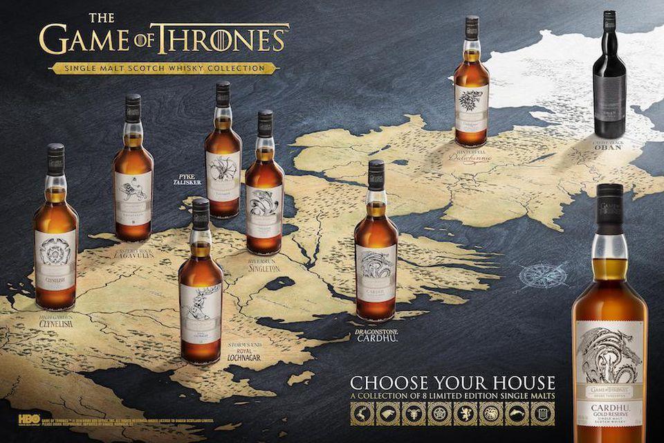 Prueba la colección de whisky inspirada en 'Game of Thrones'.