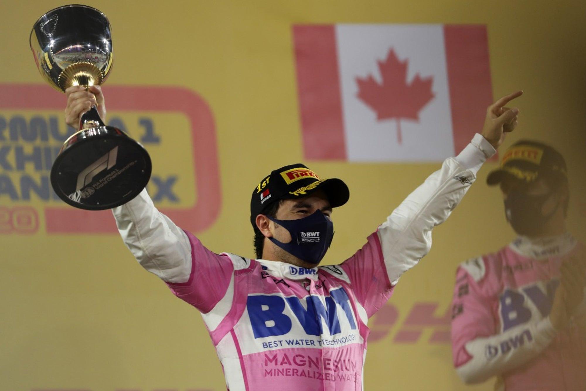 ¡Sergio 'Checo' Pérez gana el GP de Sakhir de la Formula1!