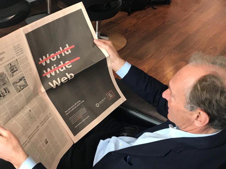 El padre de la web, Tim Berners-Lee, prepara para otro golpe maestro.