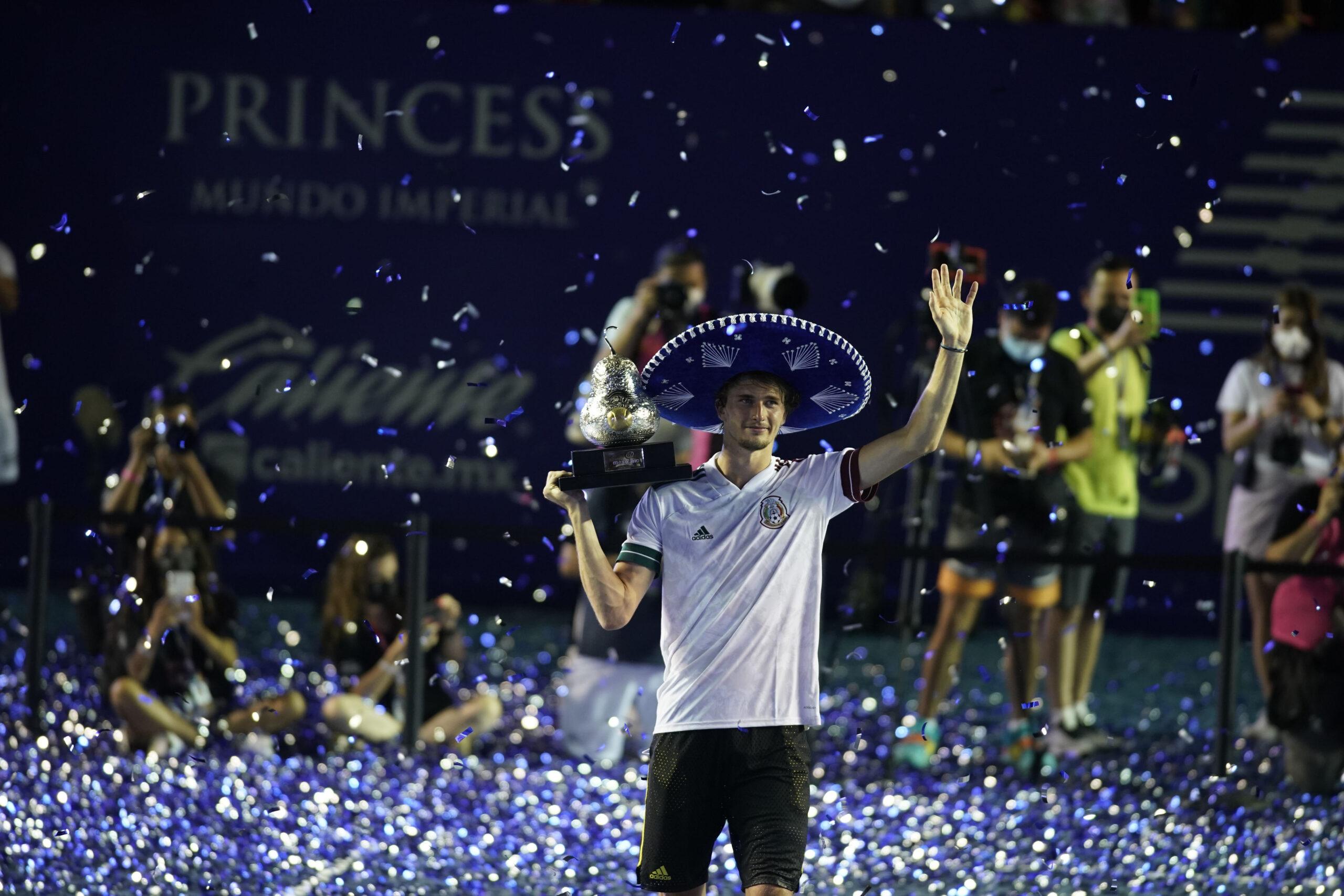 Zverev es campeón en Acapulco.